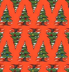 xmas forest vector image