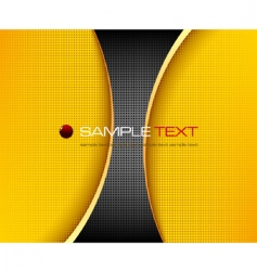 black and yellow background composition vector image
