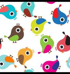 Cute bird seamless vector image