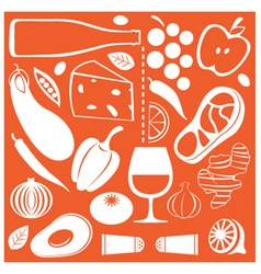food pattern vector image vector image