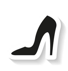 heel lady icon vector image