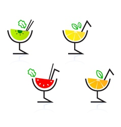 retro cocktail drinks vector image vector image