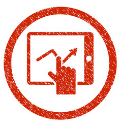 tap trend on pda rounded grainy icon vector image vector image