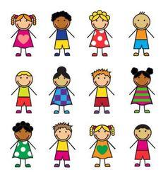 Cartoon children set vector image