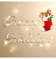 Golden Christmas Holidays Background vector image vector image
