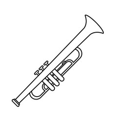 trumpet musician instrument icon thin line vector image