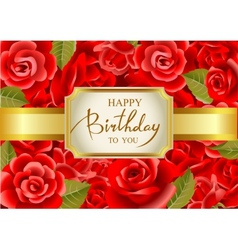 Birthday greeting card in vector image vector image