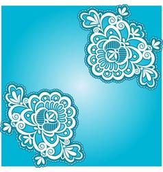 blue floral napkin vector image vector image