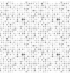 Gray dots on white abstract seamless pattern vector image