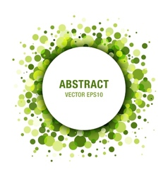 Green Abstract Circle Frame Design Element vector image