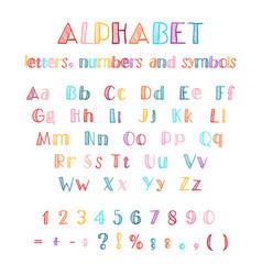 hand drawn latin alphabet vector image vector image