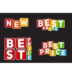 New Best Price Sign Template vector image