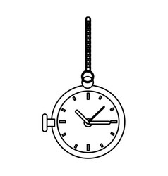 old clock icon vector image