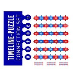 Timeline puzzle connection set vector image