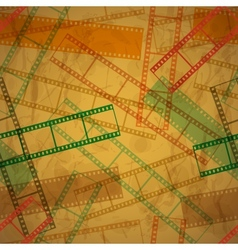 Vintage background with film frame Seamless vector image vector image