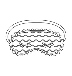 Blindfolds icon in outline style isolated on white vector image