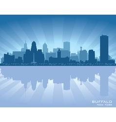 Buffalo New York skyline city silhouette vector image