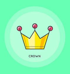 crown thin line icon vector image