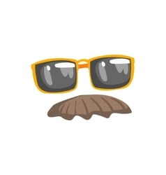 Fake Moustache And Glasses Disguise Set vector image vector image