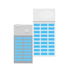 Modern office buildings icon isometric 3d style vector image vector image