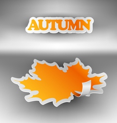 Paper autumn leaf vector image