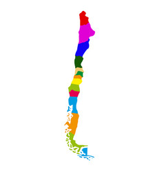 political map of chile vector image