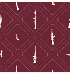 Seamless background with weapons and arms vector image vector image