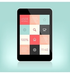 user interface design for mobile vector image