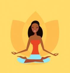 zen meditation vector image vector image