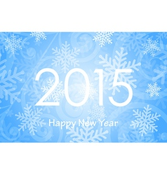 2015 Happy New Year background with snowflakes vector