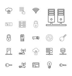 22 access icons vector