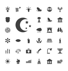 33 light icons vector