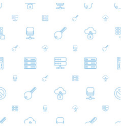 Access icons pattern seamless white background vector