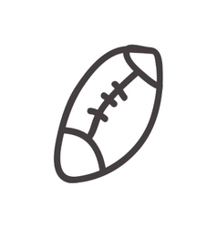 American football ball icon Sketch design vector