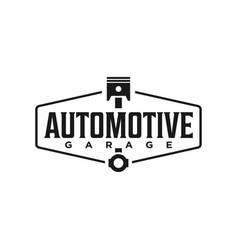 Automotive logo design style logo for garage vector