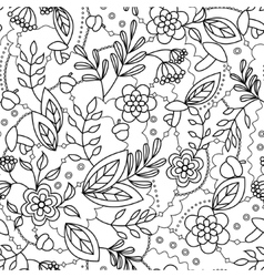 Autumn seamless pattern coloring vector image