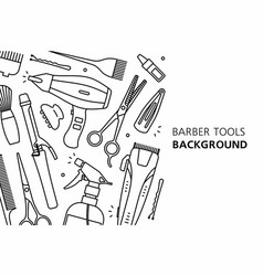 Barber tools background vector