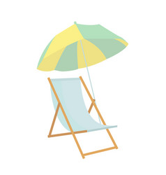beach chair umbrella icon on white background for vector image