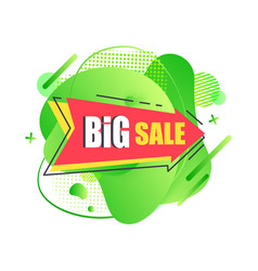 Big sale pointing arrow wit text promotion banner vector