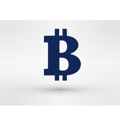 bitcoin icon Flat style design vector image
