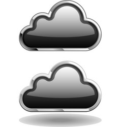 Black Cloud Icon vector image