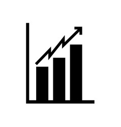 black icon bar chart vector image