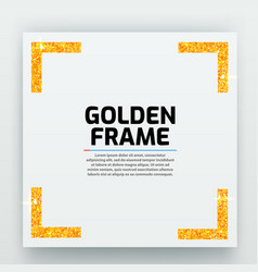 Blank paper with modern gold frame metal vector