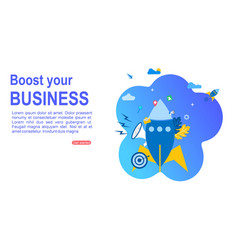 Boost your business vector