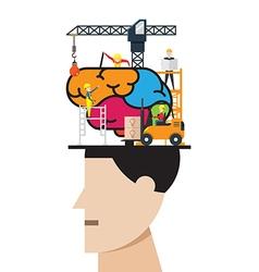 Brain development concept vector