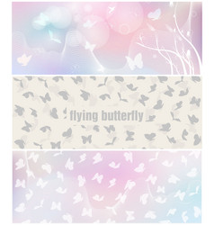butterfly banner for facebook poster design vector image