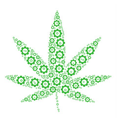 Cannabis collage of cog vector
