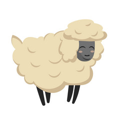 cartoon sheep a sheep vector image