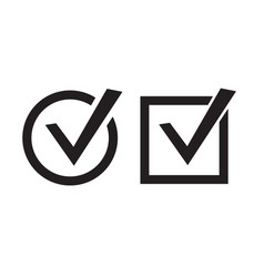 Check Marks Icons vector image