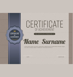 classic brown blank certified border template vector image